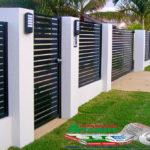 Горизонтальный забор из металлической доски длинной до 12 метров #1