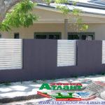 Горизонтальный забор из металлической доски длинной до 12 метров #10