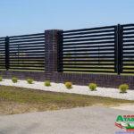 Горизонтальный забор из металлической доски длинной до 12 метров #100