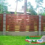 Горизонтальный забор из металлической доски длинной до 12 метров #101
