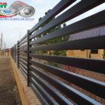 Горизонтальный забор из металлической доски длинной до 12 метров #104