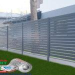 Горизонтальный забор из металлической доски длинной до 12 метров #105