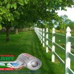 Горизонтальный забор из металлической доски длинной до 12 метров #108