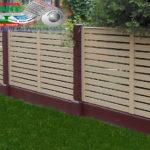 Горизонтальный забор из металлической доски длинной до 12 метров #109