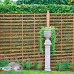 Горизонтальный забор из металлической доски длинной до 12 метров #110