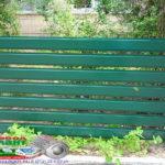 Горизонтальный забор из металлической доски длинной до 12 метров #111