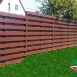 Горизонтальный забор из металлической доски длинной до 12 метров #112