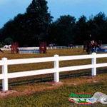 Горизонтальный забор из металлической доски длинной до 12 метров #114