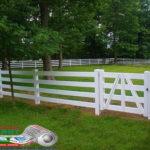 Горизонтальный забор из металлической доски длинной до 12 метров #115