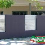 Горизонтальный забор из металлической доски длинной до 12 метров #116