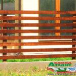 Горизонтальный забор из металлической доски длинной до 12 метров #117