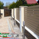 Горизонтальный забор из металлической доски длинной до 12 метров #119