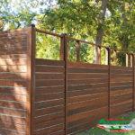 Горизонтальный забор из металлической доски длинной до 12 метров #12