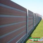 Горизонтальный забор из металлической доски длинной до 12 метров #13
