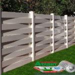 Горизонтальный забор из металлической доски длинной до 12 метров #14