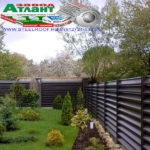 Горизонтальный забор из металлической доски длинной до 12 метров #16