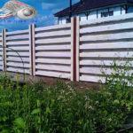 Горизонтальный забор из металлической доски длинной до 12 метров #19