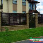 Горизонтальный забор из металлической доски длинной до 12 метров #2