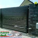 Горизонтальный забор из металлической доски длинной до 12 метров #20