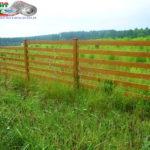 Горизонтальный забор из металлической доски длинной до 12 метров #22