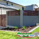 Горизонтальный забор из металлической доски длинной до 12 метров #24