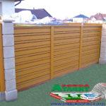 Горизонтальный забор из металлической доски длинной до 12 метров #25