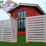 Горизонтальный забор из металлической доски длинной до 12 метров #26