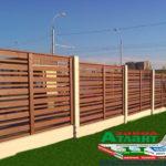 Горизонтальный забор из металлической доски длинной до 12 метров #27