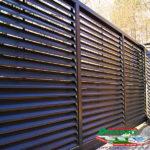 Горизонтальный забор из металлической доски длинной до 12 метров #3