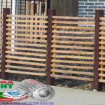 Горизонтальный забор из металлической доски длинной до 12 метров #30