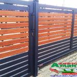 Горизонтальный забор из металлической доски длинной до 12 метров #34