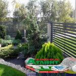 Горизонтальный забор из металлической доски длинной до 12 метров #37