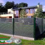 Горизонтальный забор из металлической доски длинной до 12 метров #38