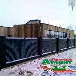 Горизонтальный забор из металлической доски длинной до 12 метров #39
