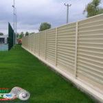 Горизонтальный забор из металлической доски длинной до 12 метров #4