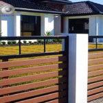 Горизонтальный забор из металлической доски длинной до 12 метров #40