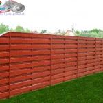 Горизонтальный забор из металлической доски длинной до 12 метров #45