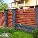 Горизонтальный забор из металлической доски длинной до 12 метров #46