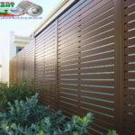 Горизонтальный забор из металлической доски длинной до 12 метров #47