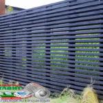 Горизонтальный забор из металлической доски длинной до 12 метров #48