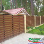 Горизонтальный забор из металлической доски длинной до 12 метров #5