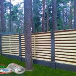 Горизонтальный забор из металлической доски длинной до 12 метров #51