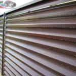 Горизонтальный забор из металлической доски длинной до 12 метров #52