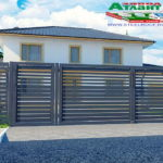Горизонтальный забор из металлической доски длинной до 12 метров #54