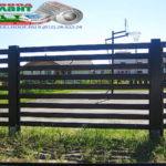 Горизонтальный забор из металлической доски длинной до 12 метров #55