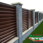 Горизонтальный забор из металлической доски длинной до 12 метров #56
