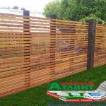 Горизонтальный забор из металлической доски длинной до 12 метров #57