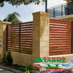Горизонтальный забор из металлической доски длинной до 12 метров #58