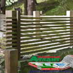 Горизонтальный забор из металлической доски длинной до 12 метров #59