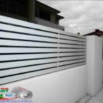 Горизонтальный забор из металлической доски длинной до 12 метров #60